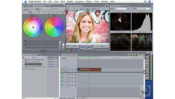 The Color Corrector filter: Final Cut Pro 5 Color Correction