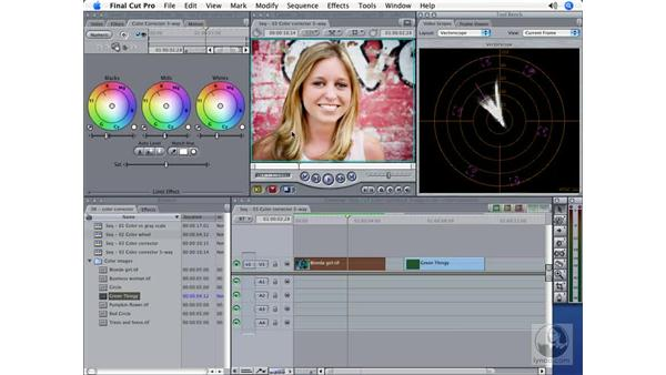 The Color Corrector 3-Way filter: Final Cut Pro 5 Color Correction