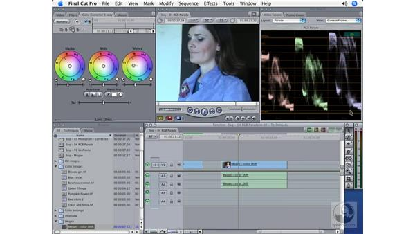 The RGB Parade scope: Final Cut Pro 5 Color Correction