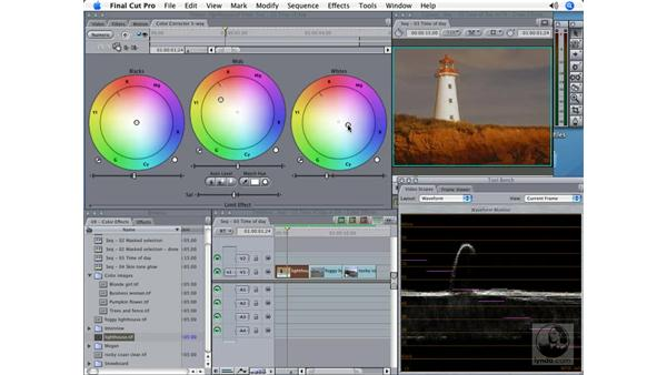 Changing time of day: Final Cut Pro 5 Color Correction