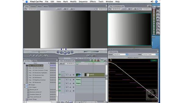 Broadcast Safe: Final Cut Pro 5 Color Correction