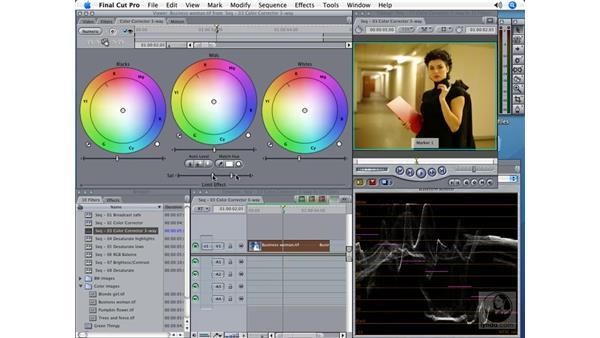 Color Corrector 3-Way: Final Cut Pro 5 Color Correction