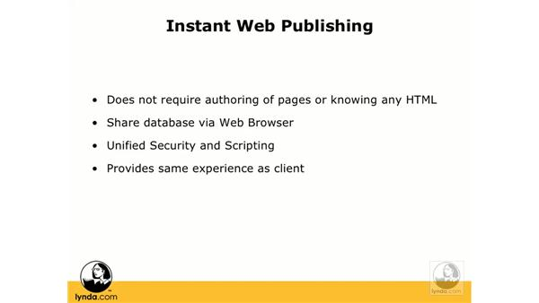 What is Instant Web Publishing?: FileMaker 8.5 Web Publishing