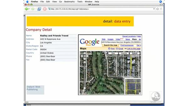 Web Viewer behavior: FileMaker 8.5 Web Publishing