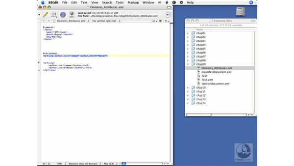 Components of an XML document: FileMaker 8.5 Web Publishing