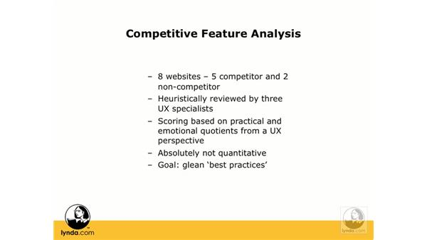 Competitive feature analysis: Web ReDesign: Strategies for Success