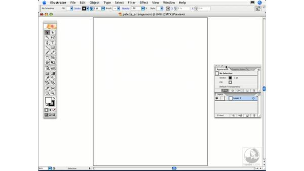 What's the best way to arrange the palettes on my screen?: Illustrator CS2 FAQs