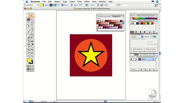 Can I create and share my own custom library of colors?: Illustrator CS2 FAQs