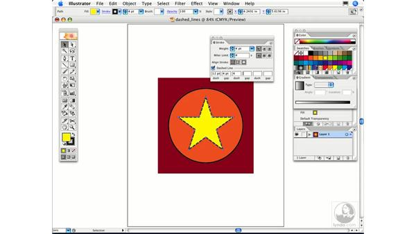 How can I create a dashed or dotted line?: Illustrator CS2 FAQs