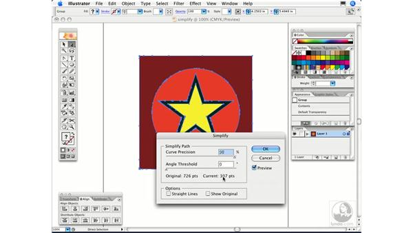 How can I reduce the number of anchor points on a path?: Illustrator CS2 FAQs
