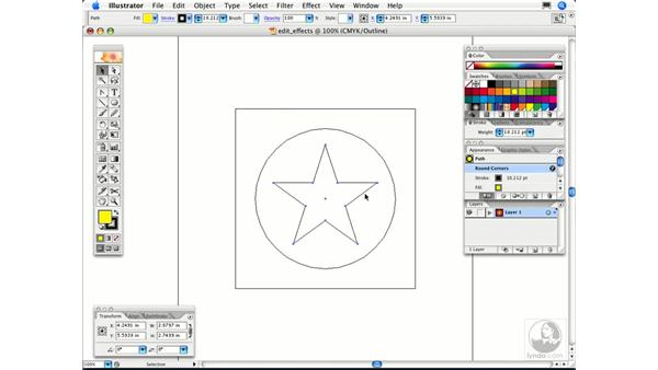 How can I edit vector paths after I've applied an effect?: Illustrator CS2 FAQs