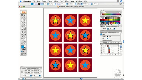 Is there an easy way to select similar objects all at once?: Illustrator CS2 FAQs