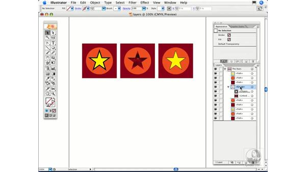 Why are the names of some items in my Layers palette underlined?: Illustrator CS2 FAQs