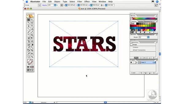 How can I fill text with a picture?: Illustrator CS2 FAQs