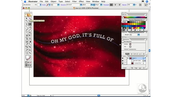 How can I make type flow along a path?: Illustrator CS2 FAQs