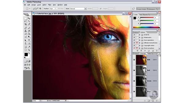 The Channels palette: Photoshop CS2 Channels & Masks