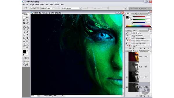 Channels in color: Photoshop CS2 Channels & Masks