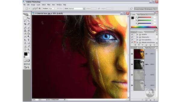 Lab color: Photoshop CS2 Channels & Masks