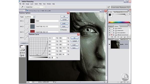 Duotones, tritones, and quadtones: Photoshop CS2 Channels & Masks