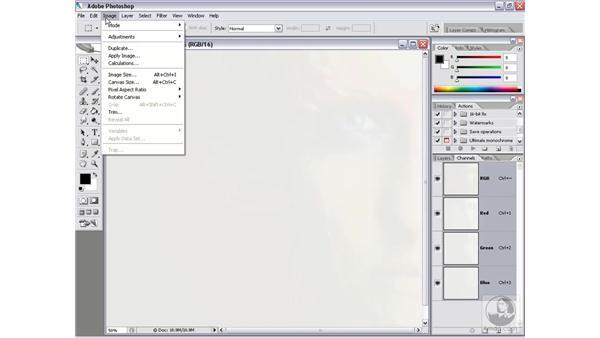 16-bit advantages: Photoshop CS2 Channels & Masks