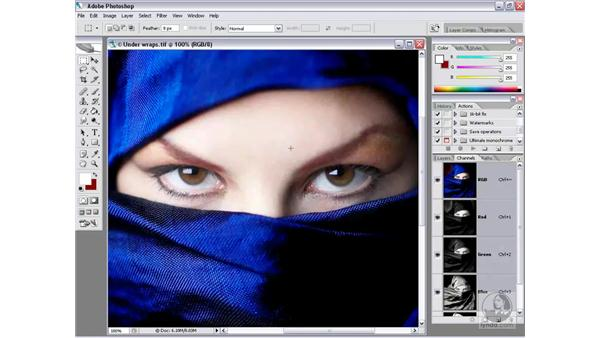 Loading an alpha channel: Photoshop CS2 Channels & Masks