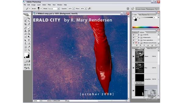Modifying a mask: Photoshop CS2 Channels & Masks