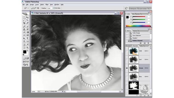 Choosing a base channel: Photoshop CS2 Channels & Masks