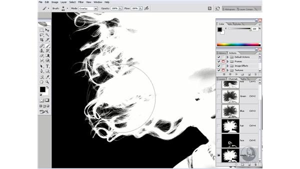 Overlay painting: The Shadows: Photoshop CS2 Channels & Masks