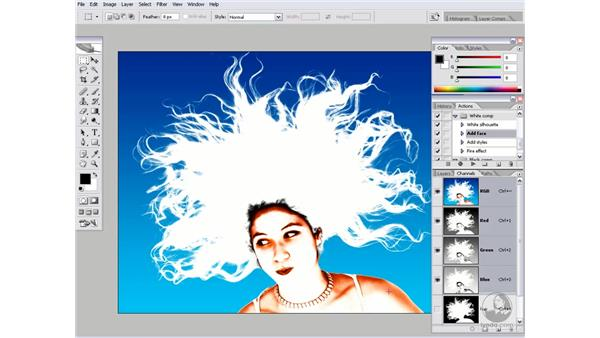 Testing your mask: Photoshop CS2 Channels & Masks