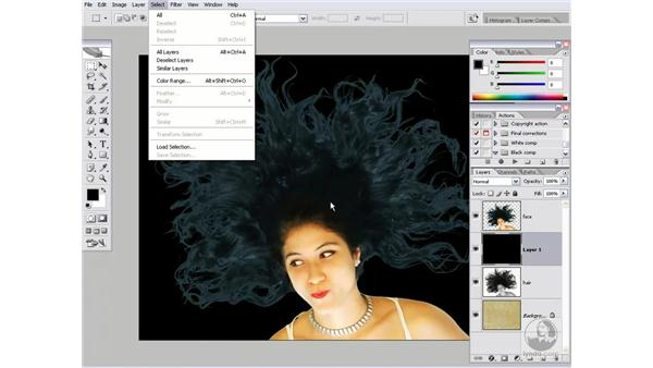 Blending hair and skin tones: Photoshop CS2 Channels & Masks