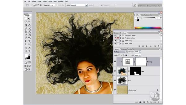 Toasting the edges: Photoshop CS2 Channels & Masks