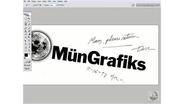 Bringing in a scanned logo: Photoshop CS2 Channels & Masks