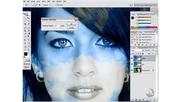 Blending images together: Photoshop CS2 Channels & Masks