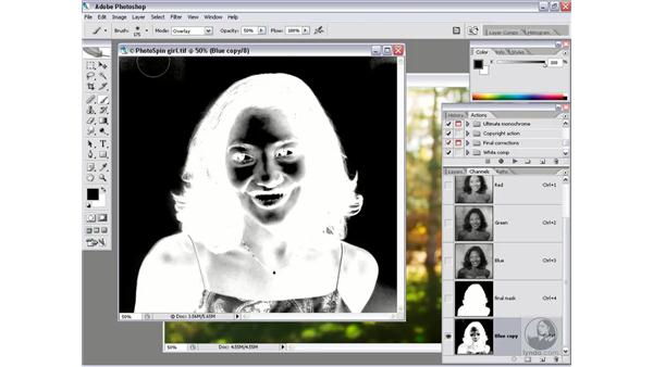 Blending a masked image: Photoshop CS2 Channels & Masks