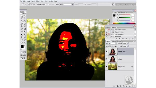 Building the transition layers: Photoshop CS2 Channels & Masks