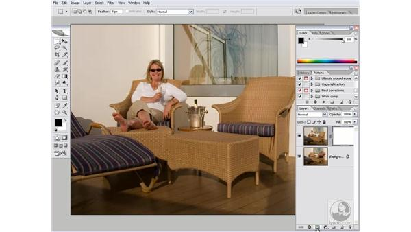 Blending two photographs: Photoshop CS2 Channels & Masks