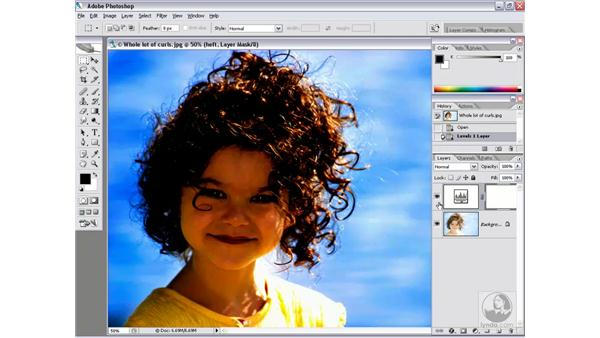 Masking an adjustment layer: Photoshop CS2 Channels & Masks
