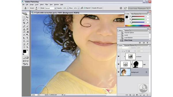 Completing the adjustment layers: Photoshop CS2 Channels & Masks