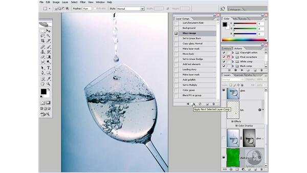Welcome to the glass composition: Photoshop CS2 Channels & Masks