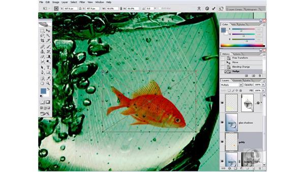 Adding a goldfish: Photoshop CS2 Channels & Masks