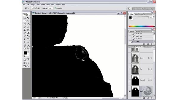 Creating an exposure mask: Photoshop CS2 Channels & Masks