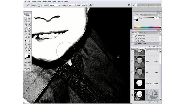 Using a corrective mask: Photoshop CS2 Channels & Masks