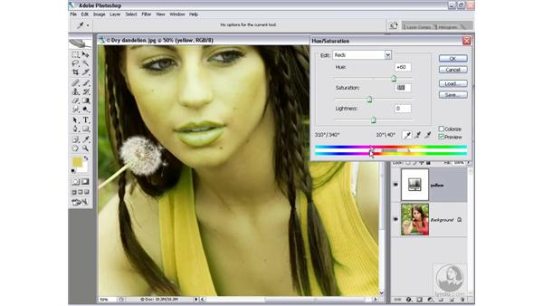 Modifying specific colors: Photoshop CS2 Channels & Masks