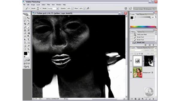 Initiating a color mask: Photoshop CS2 Channels & Masks