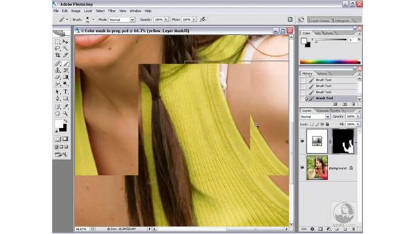Refining a color mask: Photoshop CS2 Channels & Masks