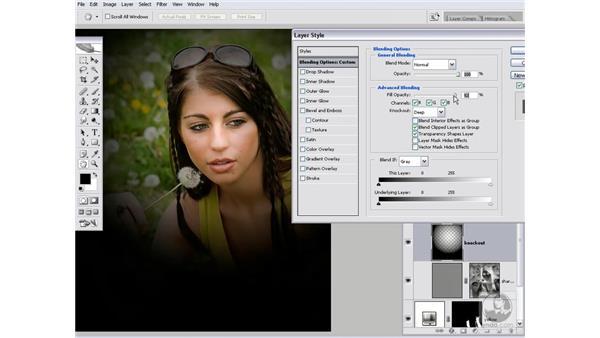 Adjusting the knockout depth: Photoshop CS2 Channels & Masks