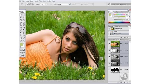 Fashioning a depth map: Photoshop CS2 Channels & Masks