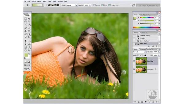 Blurring a background: Photoshop CS2 Channels & Masks