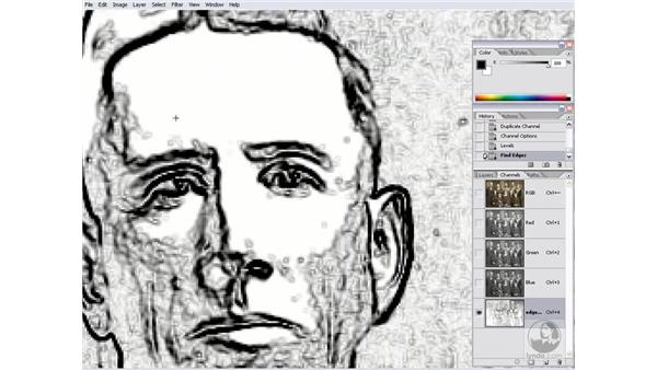 Creating an edge mask: Photoshop CS2 Channels & Masks