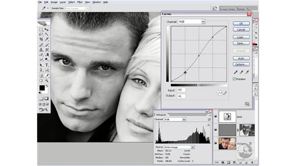 Adding contrast and a hint of color: Photoshop CS2 Channels & Masks